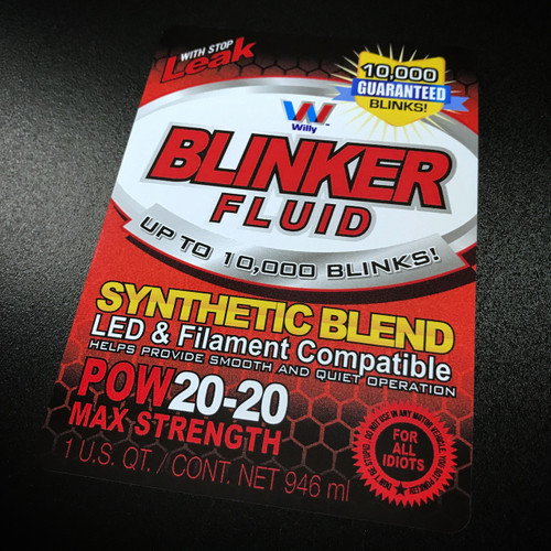 Blinker Fluid sticker