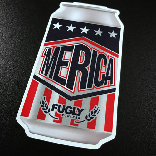 Merica Beer Can Sticker