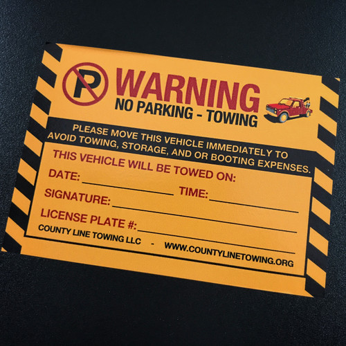 No Parking Fake sticker