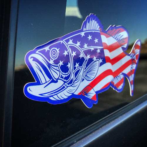 American Bass Fish - Sticker