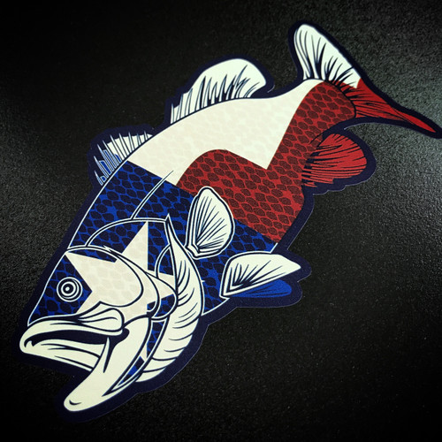 Texas Bass Fish - Sticker