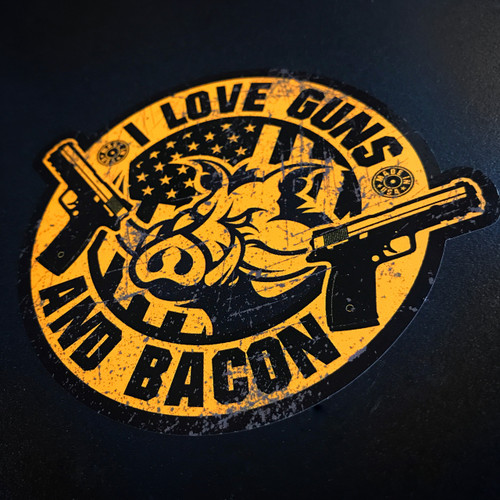 I Love Guns and Bacon - Sticker