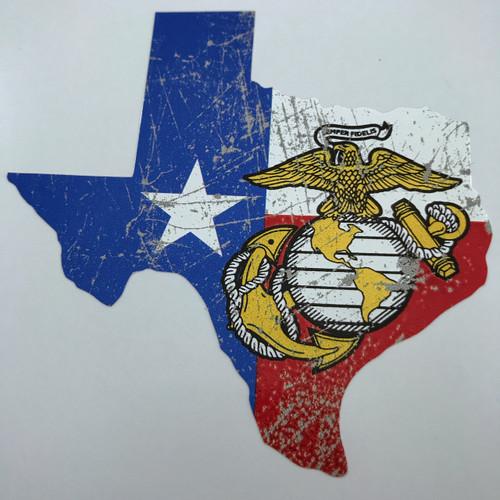 Texas USMC Marines - Sticker
