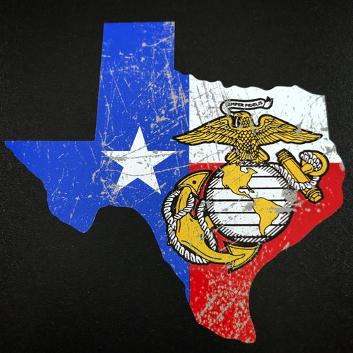 Texas USMC Marines - Sticker