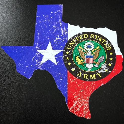 Texas US Army Vintage - Sticker