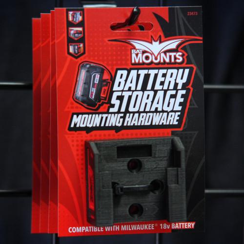 Bat Mounts Battery Mount Adapter Dock Holder for Milwaukee M18 M 18v