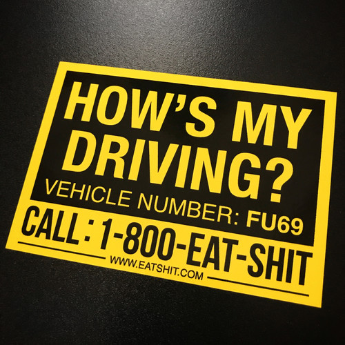 How's My Driving - Sticker