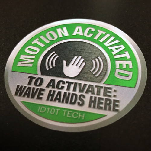 Motion Activated Wave Here (2 pack) - Sticker
