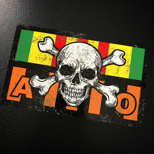 Vietnam Ribbon Agent Orange Skull - Sticker