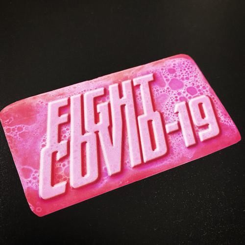 Fight Covid 19 Soap - Sticker