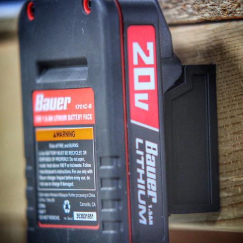 Battery Mount Adapter Dock Holder for Bauer 20 volt