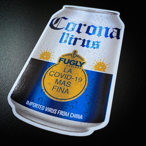 Corona Virus Beer Can - Sticker