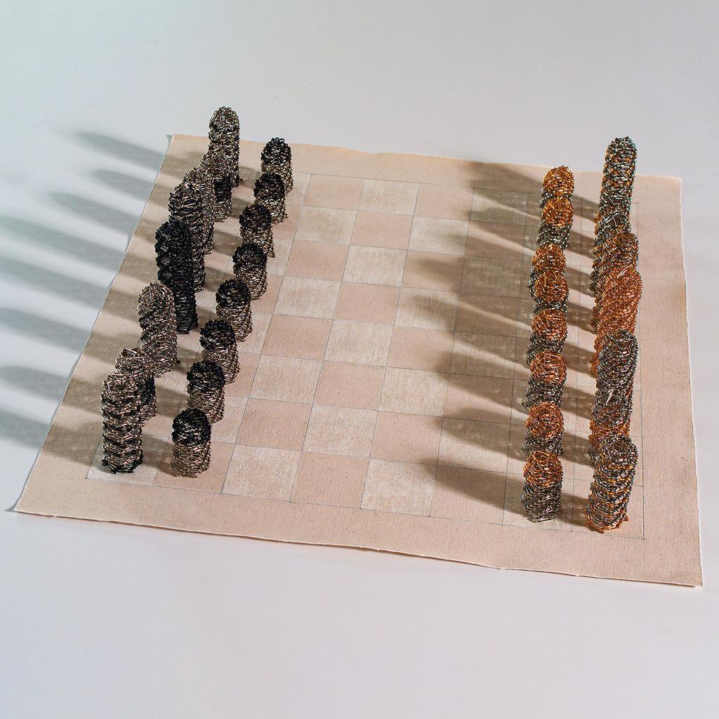 Black vs Gold Chess Set by Tamiko Kawata