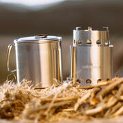 The Solo Stove Lite nest neatly inside, saving you pack space.