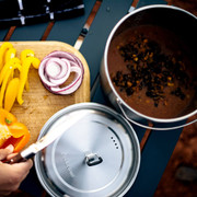 The two pot set allows you to cook multiple things for your meal using the Solo Stove Campfire