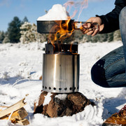The Solo Stove Two Pot Set allows you to nest the Solo Stove Campfire with in them to save pack space.