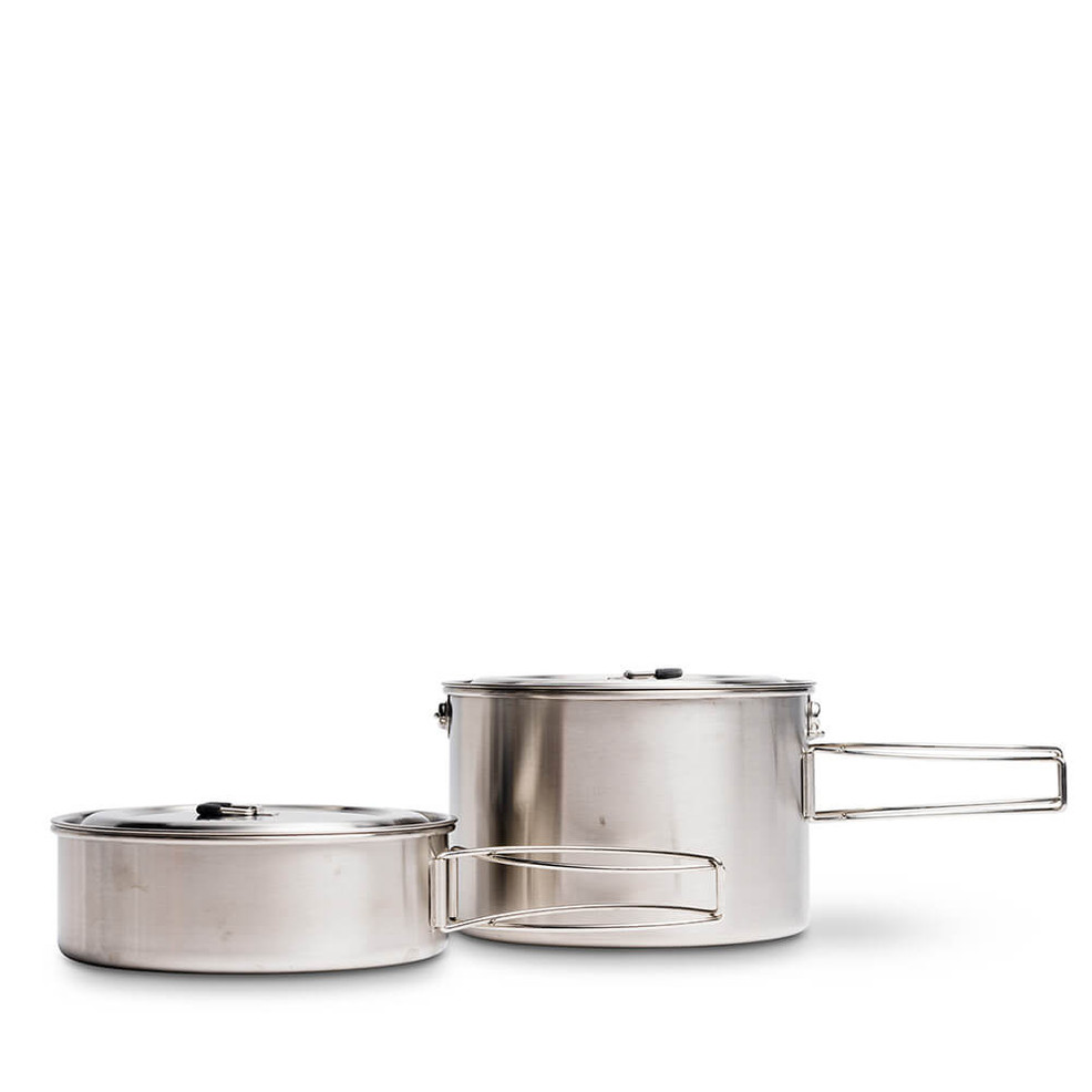 The Solo Stove Two Pot Set allows you to more than one type of food at a time!