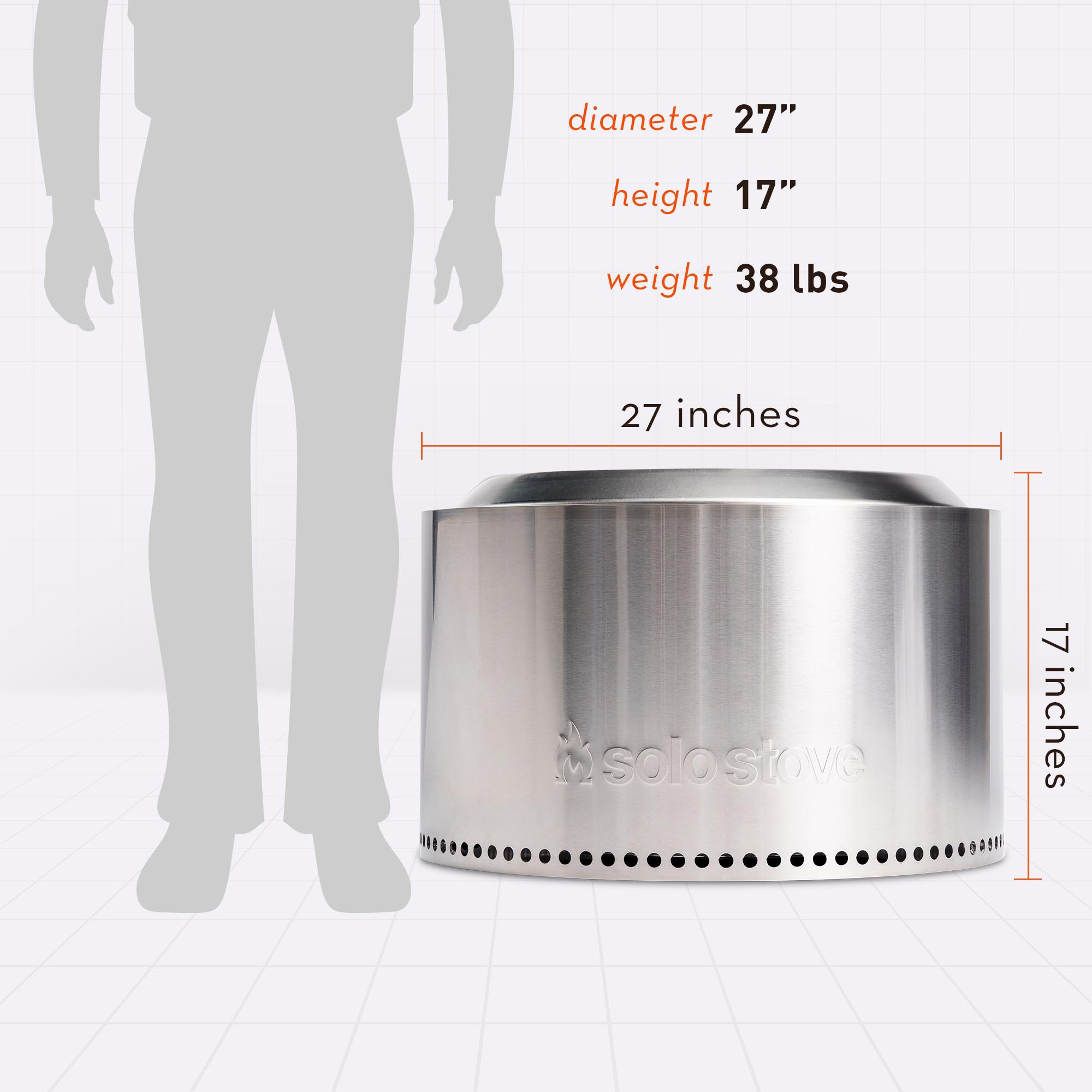 15 Inches Tall, 26.5 Inches Wide