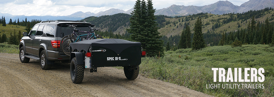 Lightweight and versatile 7ft utility trailers that can be towed even with smaller cars and vehicles