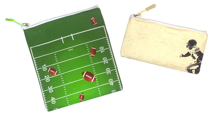 Joey Pouch Reusable Sandwich and Snack Bag 2-Pack -  Football