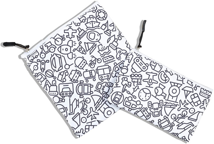 Joey Pouch Reusable Sandwich and Snack Bag 2-Pack -  Doodle Transporation