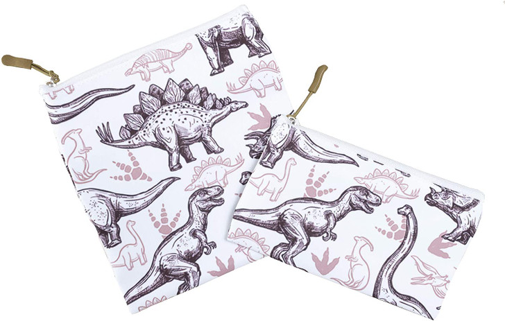Joey Pouch Reusable Sandwich and Snack Bag 2-Pack -  Dinosaurs
