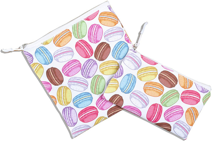Joey Pouch Reusable Sandwich and Snack Bag 2-Pack -  Macaron Cookies