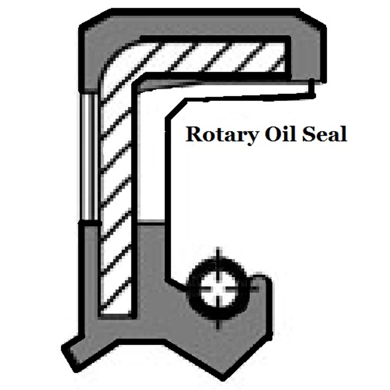 Rotary shaft oil seal 85 x 110 x pack height, model