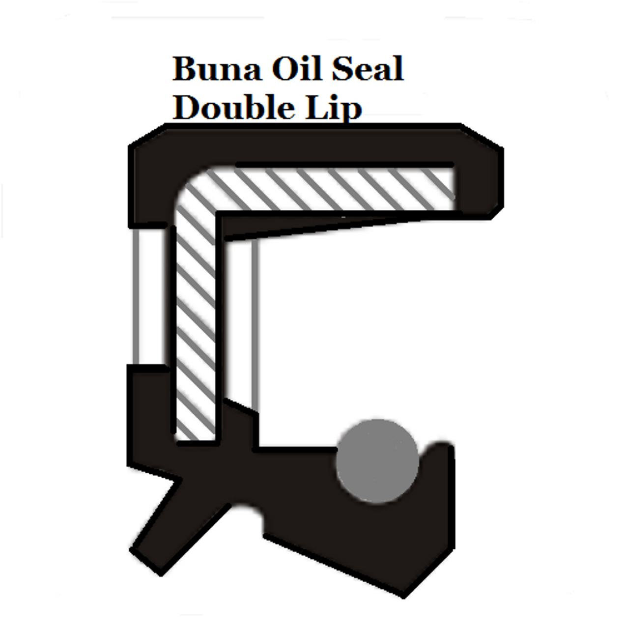 Metric Oil Shaft Seal 15 x 25 x 7mm Double Lip  Price for 1 pc