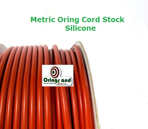 Metric O-ring Cord Red Silicone  5.33mm Price per Foot