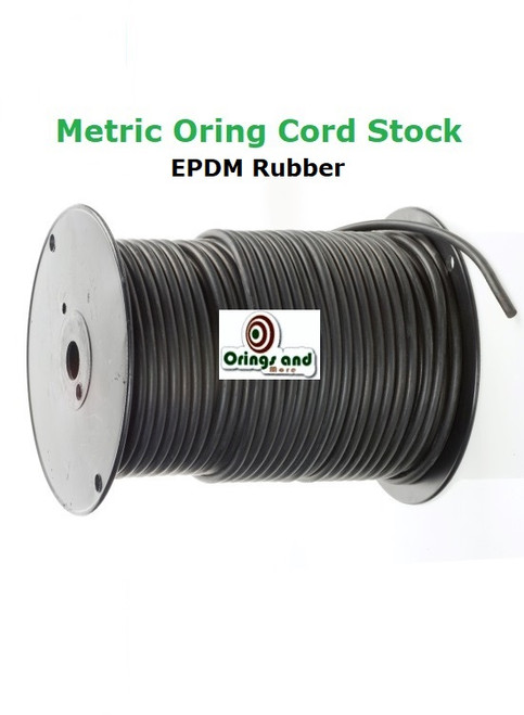 Metric 12mm O-ring Cord EPDM   Price per Foot