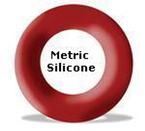 Silicone O-rings 123.19 x 6.99mm Price for 1 pc