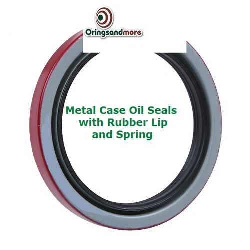 Metric Oil Shaft Seal 30 x 42 x 7mm Double Lip Metal Case