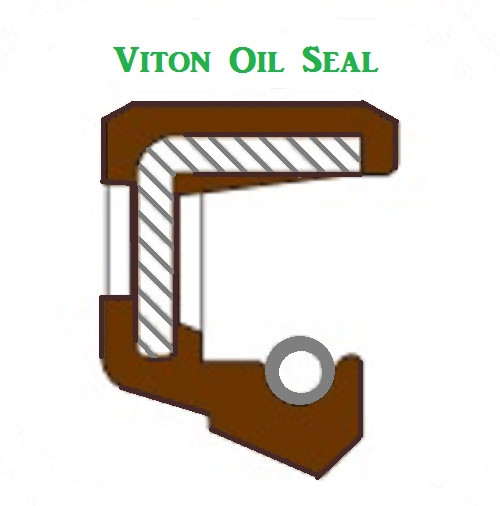 Viton Oil Shaft Seal 18 x 35 x 10mm  Single Lip  Price Price for 1 pc