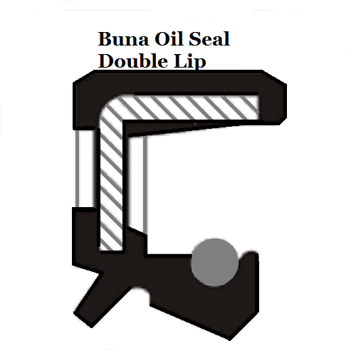 Metric Oil Shaft Seal 25 x 38 x 6mm Double Lip  Price for 1 pc
