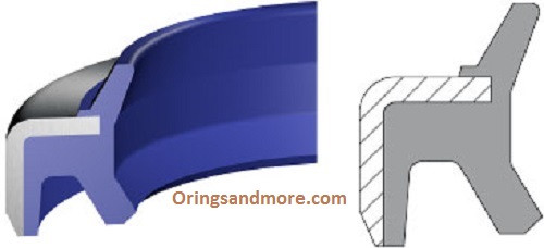 Metric Metal Clad Rod Wipers  H Style 180 x 200 x 10mm Price for 1 pc