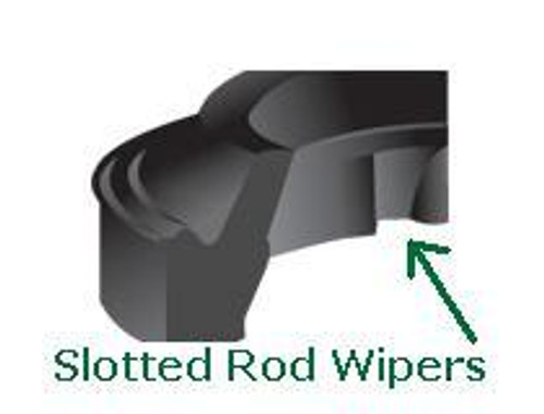 """Rod Wipers Slotted for 2-1/2"""" Price for 1 pc"""