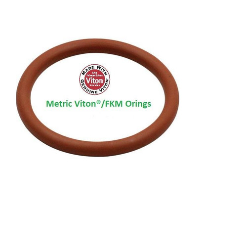 8mm OD Rubber Metric O-Rings Pack of 10 4mm x 2mm Green Viton/® 75A Shore Hardness FKM