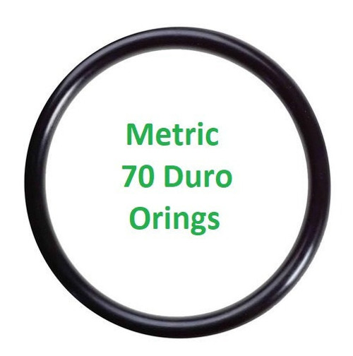 Metric Buna  O-rings 1 x 1mm  Minimum 25 pcs