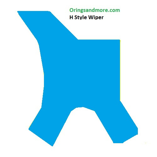 H Style Urethane Rod Wipers 8 x 12 x 3.6mm Price for 1 pc