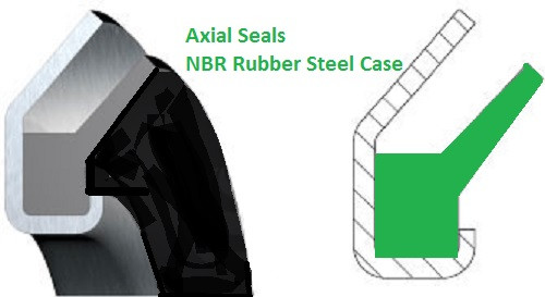 Axial Gamma Seal 40x57x4.5mm  Price for 1 pc