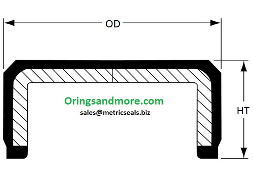 32mm OD x 9.5mm HT End Cap Seal   Price for 1 pc