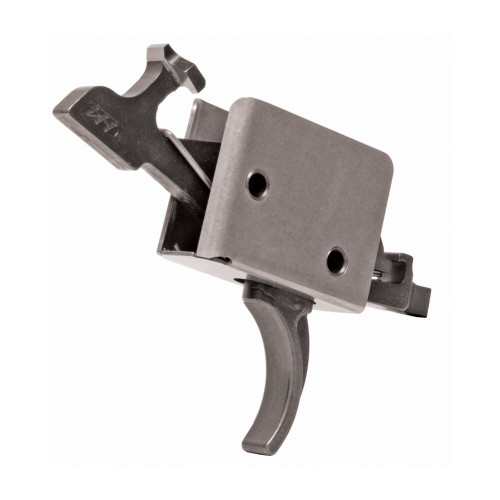 CMC Triggers, 2-Stage Small Pin Curved Trigger, 2lb Set - 2lb Release, Black Finish