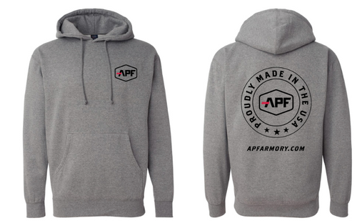 APF Gray Hooded Pullover Sweatshirt