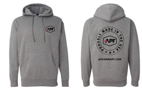 APF Gray Hooded Pullover Sweatshirt