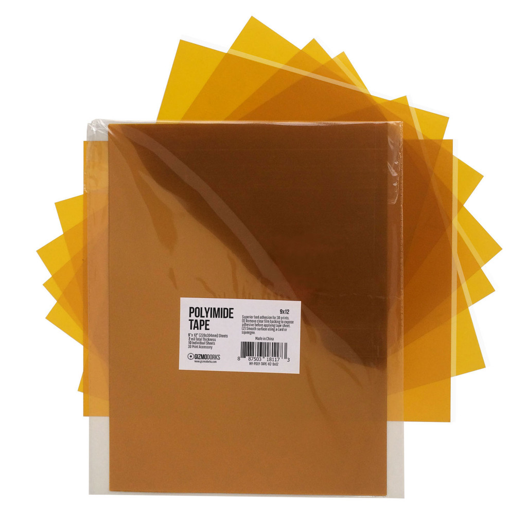 3D Printer Kapton Tape Sheets 9 x 12 Inches