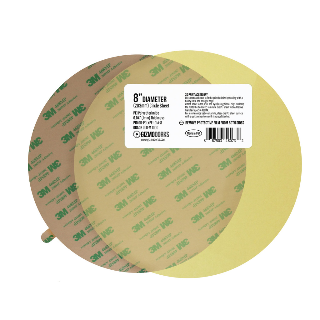 PEI Sheet with 3M 468MP Adhesive Circle