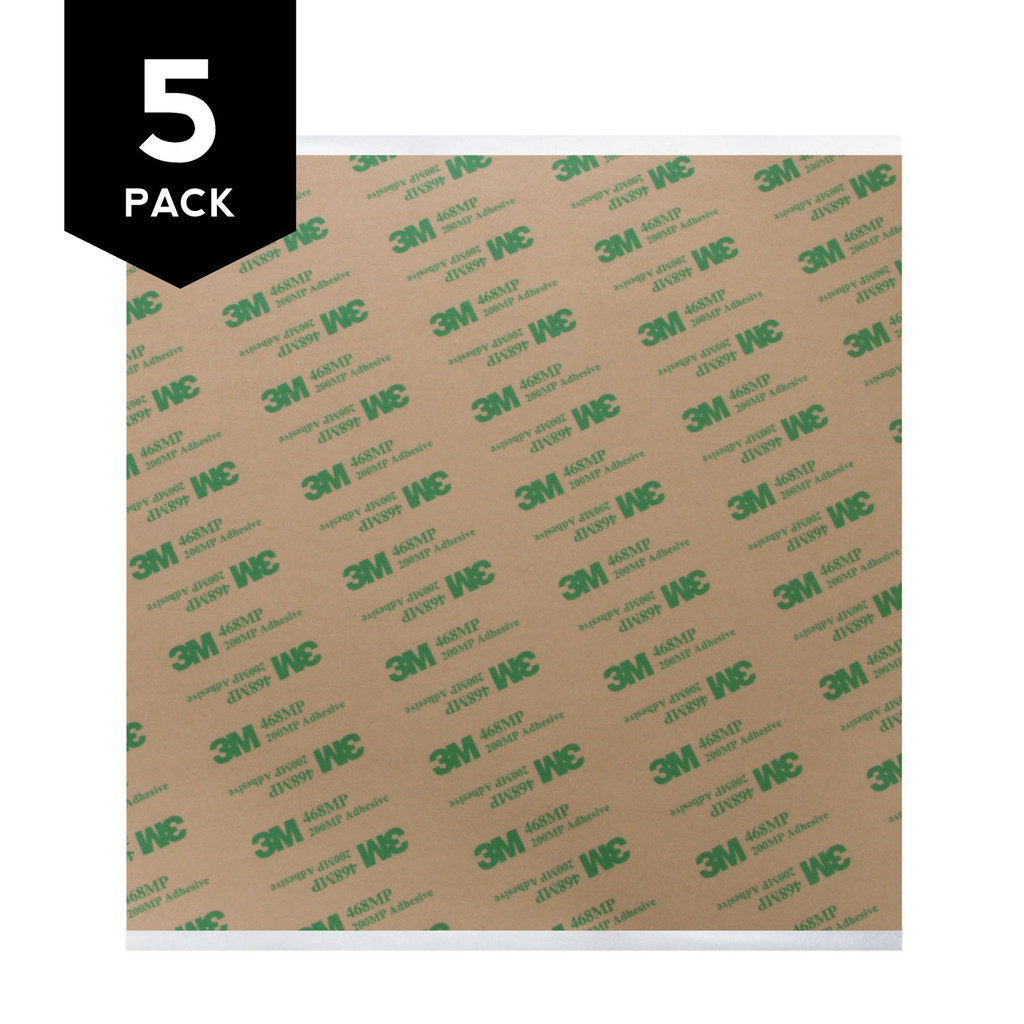 3M 468MP Adhesive Transfer Tape Square 5 Pack