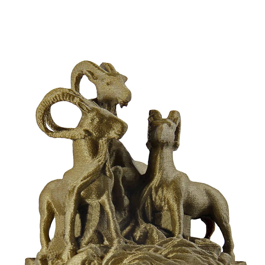 Bronze Filament Rams Print