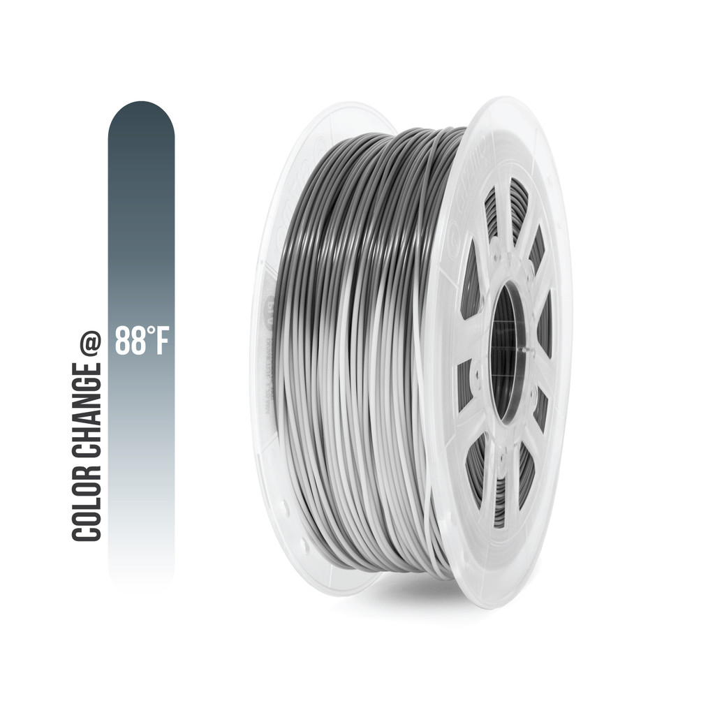 ABS Filament Heat Activated Color Changing Grey to White